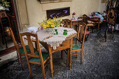 Photograph - Restaurant In Sicily  by Patrick Boening