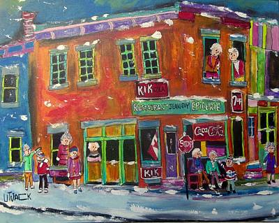 Painting - Restaurant Jean Guy In The Point by Michael Litvack
