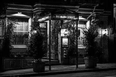Photograph - Restaurant Jeanne D'arc Bw by Bonnie Follett