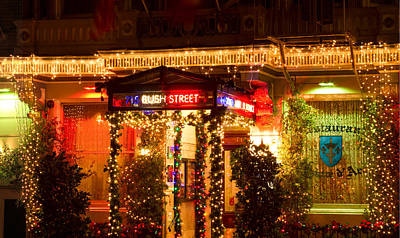 Photograph - Restaurant Jeanne D'arc Christmas Lights by Bonnie Follett