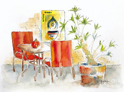 Painting - Restaurant La Medina by Pat Katz
