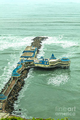 Photograph - Restaurant On A Pier In Lima, Peru by Patricia Hofmeester