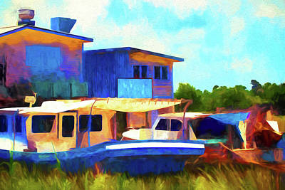 Painting - Restaurant On The Bayou by Barry Jones