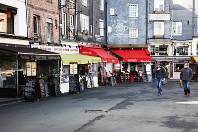 France Photograph - Restaurant Row In Honfleur by Hugh Smith