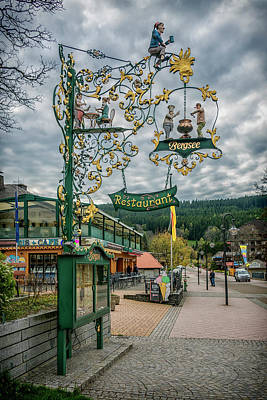Photograph - Restaurant Sign Titisee-neustadt Germany 7r2_dsc8246_05112017 by Greg Kluempers