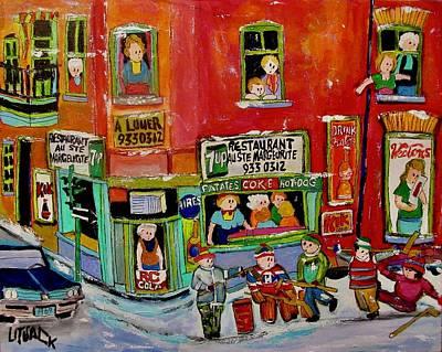 Painting - Restaurant Ste. Marguerite St. Henri by Michael Litvack