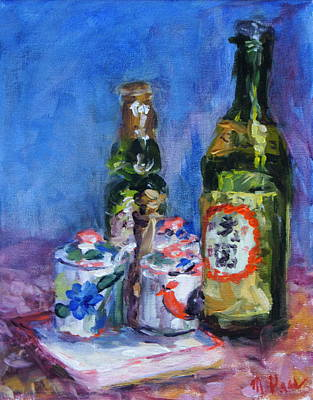 Sake Painting - Restaurant Still Life by Mary Haas