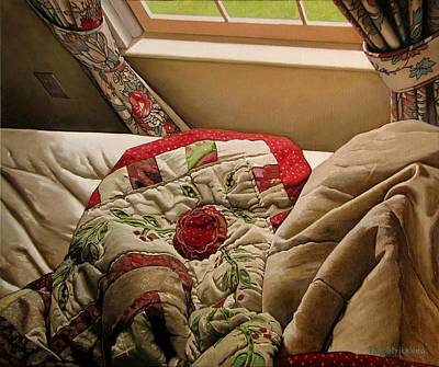 Bed Quilts Painting - Rested by Doug Strickland