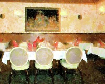 Upscale Mixed Media - Restful Dining by Florene Welebny