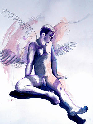 Art Print featuring the painting Resting Angel by Rene Capone