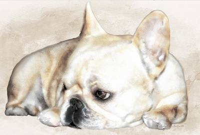 Animals Painting - Resting Awareness by Barbara Chichester