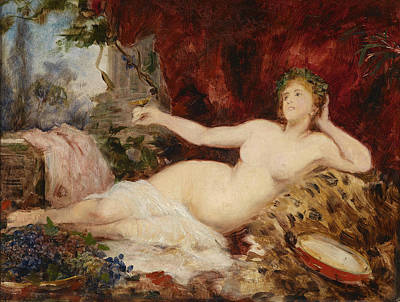 Orgy Painting - Resting Bacchante by Hans Makart