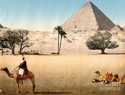 Painting - Resting Bedouins And The Grand Pyramid by Celestial Images