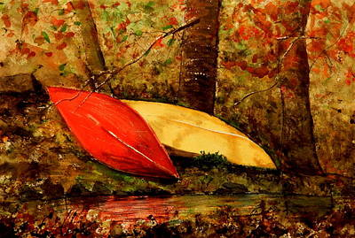 Painting - Resting Canoes by Betty-Anne McDonald
