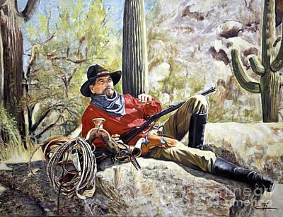 Painting - Resting Cowboy by Ekaterina Stoyanova