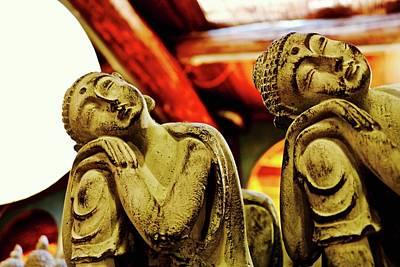 Photograph - Resting Golden Buddhas by Brian Sereda