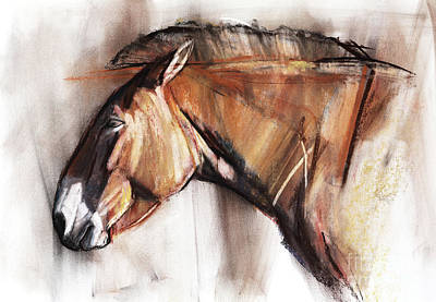 Portraits Pastel - Resting Horse by Mark Adlington
