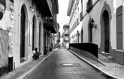 Resting In Casco Viejo Mono Art Print