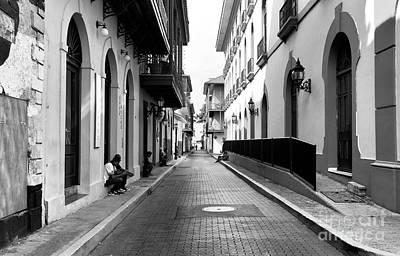 Resting In Casco Viejo Mono Art Print by John Rizzuto