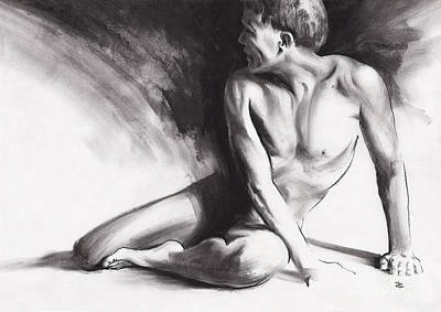 Drawing - Resting Iv by Paul Davenport