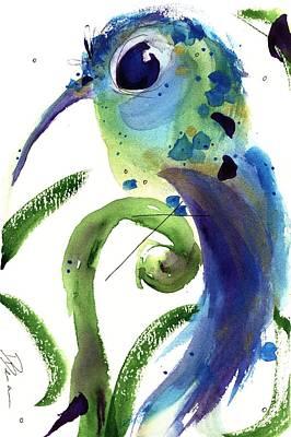 Hummingbird Painting - Resting Joy by Dawn Derman
