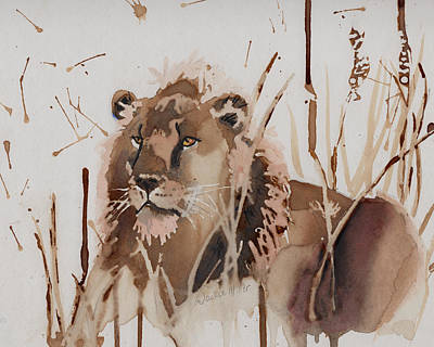 Painting - Resting King by Jackie Little Miller