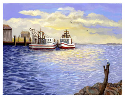 Art Print featuring the painting Resting Nets by Sena Wilson