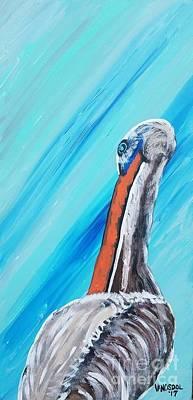 Painting - Resting Pelican by Scott D Van Osdol