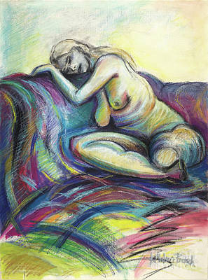 Drawing - Resting Place  by Kerryn Madsen-Pietsch
