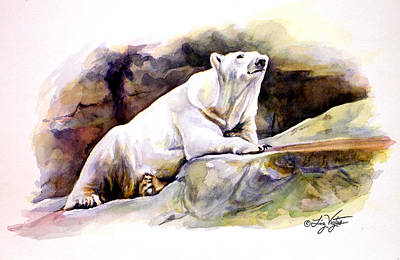 Resting Polar Bear Art Print