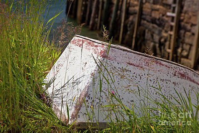 Art Print featuring the photograph Resting Rowboat by Susan Cole Kelly