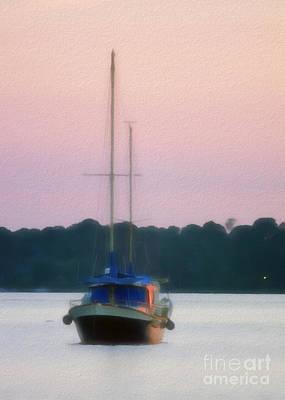 Boating Digital Art - Resting Sailboat by Patrick M Lynch