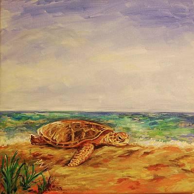Resting Sea Turtle Art Print by Danielle Hacker