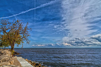 Photograph - Restless Sea And Sky by John M Bailey