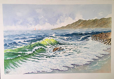 Painting - Restless Sea by Richard Benson