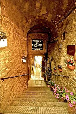Photograph - Restaurant Steps To Italian Panorama by Femina Photo Art By Maggie