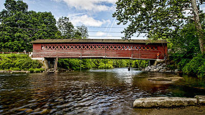 Old Country Roads Photograph - Restoration - Henry Covered Bridge by Stephen Stookey