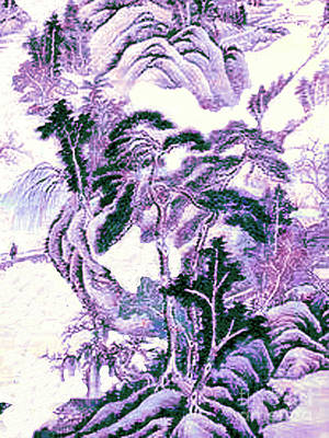 Painting - Restoration Of Old Japanese Painting by Merton Allen