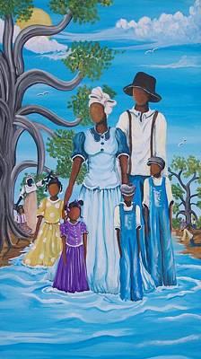 Gullah Geechee Painting - Restoration by Sonja Griffin Evans