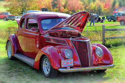 Photograph - Restored 1937 Ford by Mike Martin
