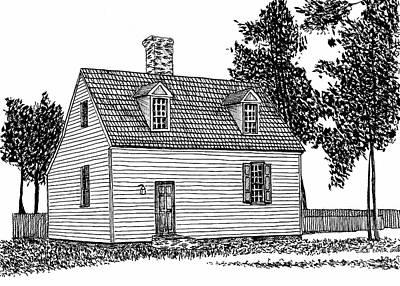 Restored Home, Colonial District, Williamsburg Virginia Historic Area Art Print
