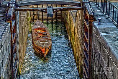 Photograph - Restored Original Erie Canal Lock by William Norton