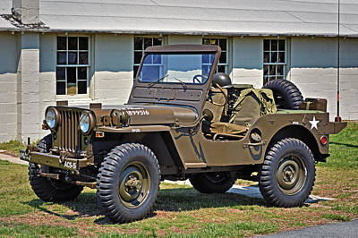 Photograph - Restored Willys Army Jeep At Fort Miles by Bill Swartwout Fine Art Photography
