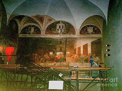 Photograph - Restoring Divinci's Last Supper - Milan, Utaly by Merton Allen