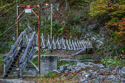 Photograph - Restricted Footbridge by Tom Claud