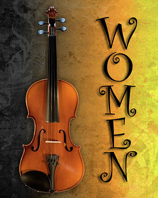 Digital Art - Restroom Female Violin by Mike Braun