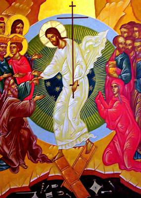 Orthodox Painting - Resurrection And The Cross by Munir Alawi