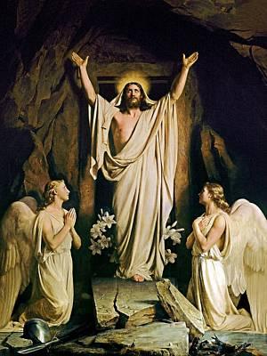 Carl Bloch Painting - Resurrection by Carl Heinrich Bloch