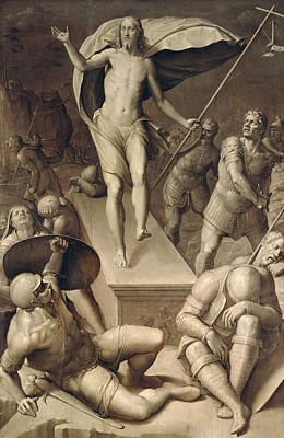 Resurrection Of Christ Art Print by Italian School