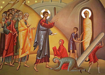Art Print featuring the painting Resurrection Of Lazarus by Munir Alawi